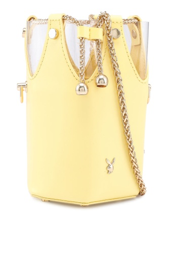 PLAYBOY BUNNY yellow Ladies Chain Sling bag 77FEFAC59EEDDDGS_1