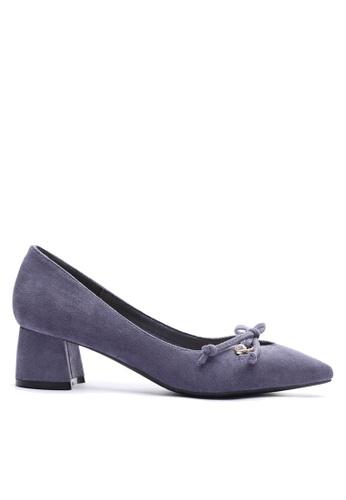 Twenty Eight Shoes 紫色 閃石配襯蝴蝶結中跟鞋 VL99913 C6635SHE2D5059GS_1