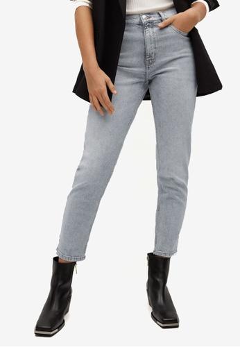 Mango grey Mom-Fit Jeans 57B10AA0FCBA0BGS_1