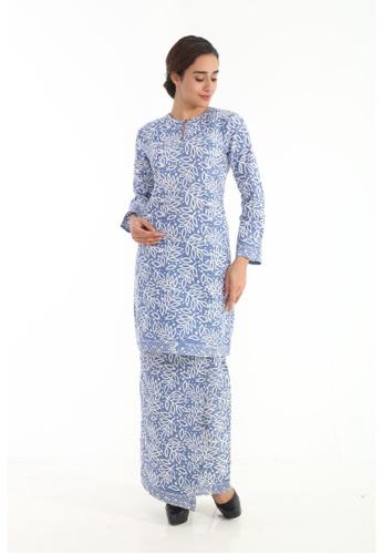 Amar Amran blue Kurung Moden Batik Pastel CD3C4AA8F737E8GS_1