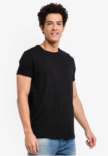 United Colors of Benetton 黑色 素面基本款短袖T恤 C49C4AAD6102D2GS_1