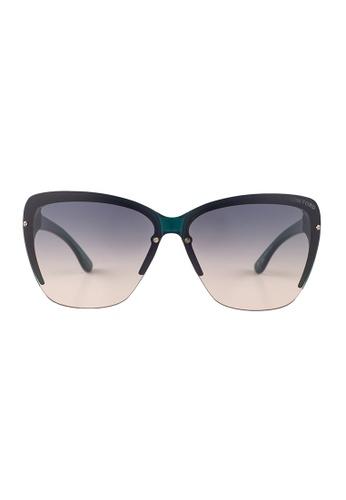 Tom Ford blue TOM FORD Poppy Square Blue Sunglasses TF457 TO545AC19JGUMY_1