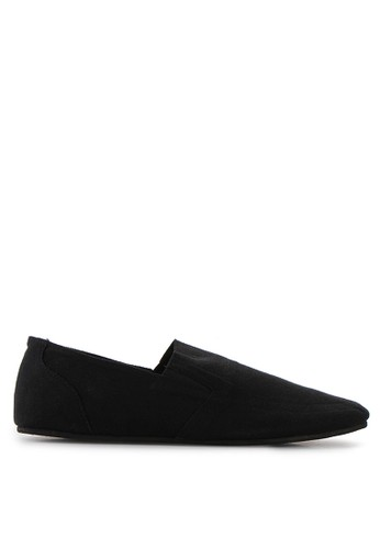 Minarno black Black Canvas Slip-On ND126 MI641SH22QUBID_1