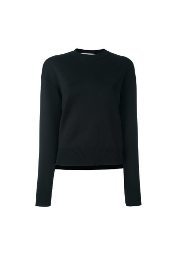 GIVENCHY black Givenchy Zip Detail Sweater in Black 9615EAACD3AB9EGS_1