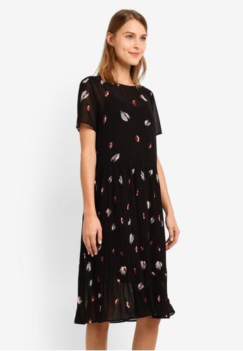 Selected Femme black Fiffi Short Sleeve Dress SE157AA0SEDAMY_1