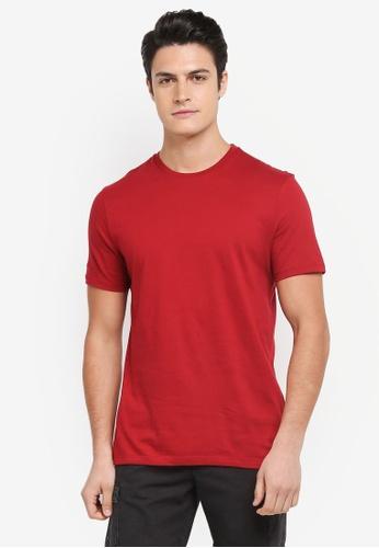 Topman red Slim T-Shirt 81E13AAA18B0D4GS_1