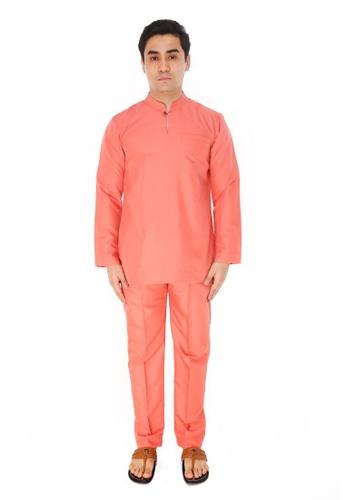 Amar Amran orange Baju Melayu Gumbae F9F90AA4CC2B0DGS_1