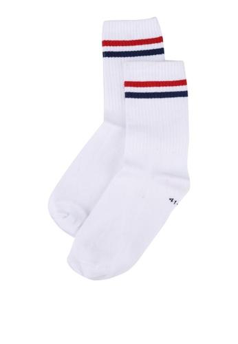 Hummel white Stripe 1-Pack Socks D2FE8AC997DCECGS_1