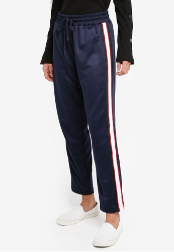 Dorothy Perkins navy Navy Blue Tapered Joggers A6799AA17708D3GS_1