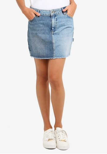 Shop Superdry Denim Micro Mini Skirt Online On Zalora Philippines