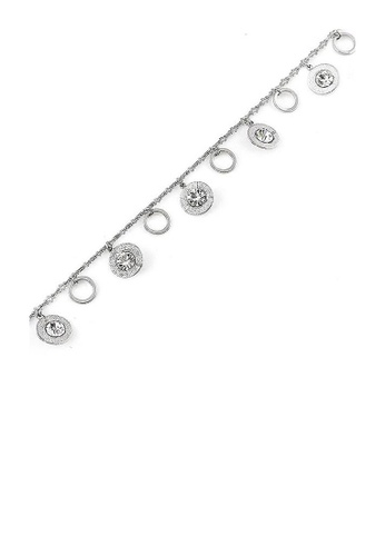 Glamorousky silver Charming Anklet with Silver Austrian Element Crystal 57F09AC9F9591BGS_1