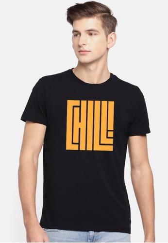 Greatvalueplus black Chili Men's Round Neck Statement T-Shirt DC92CAAEECDB0AGS_1