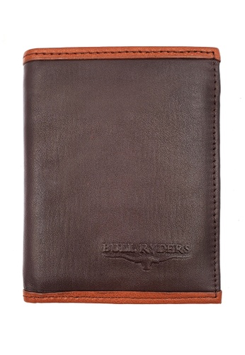 midzone brown BULL RYDERS Genuine Cow Leather Small Wallet BWHD-80594 4283BAC7965D09GS_1