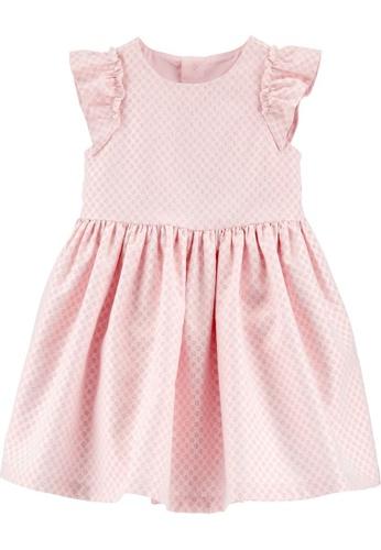Carter's pink CARTER'S Girl Pink Dress 80C28KA705690CGS_1
