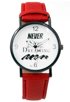 Never Stop Dreaming Women's Leather Strap Watch