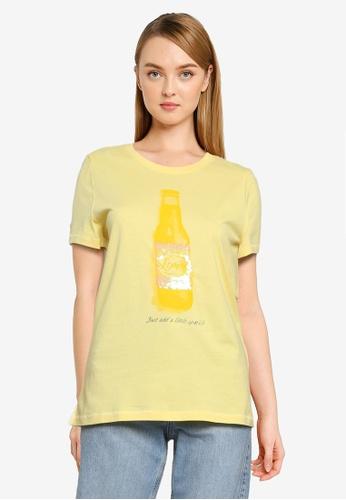 ONLY yellow Kita Life Tee 092F3AA53ADFD0GS_1