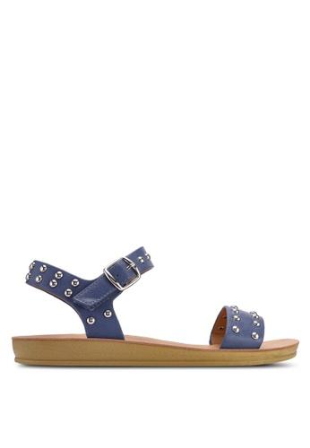Noveni 藍色 鉚釘涼鞋 7F4E8SH4653602GS_1