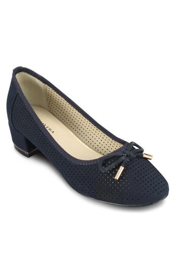 Foratura 沖孔蝴蝶esprit hk office結低跟鞋, 女鞋, 鞋