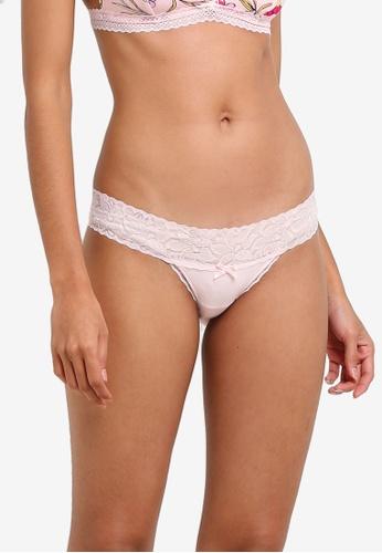 Cotton On Body pink Lace Waistband Cheeky Bikini CO561US0SA3NMY_1