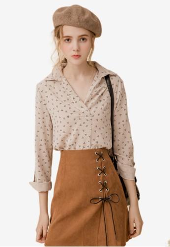 Eyescream multi and brown Printed Cuffed Sleeves Shirt BD5E8AA352C9ABGS_1