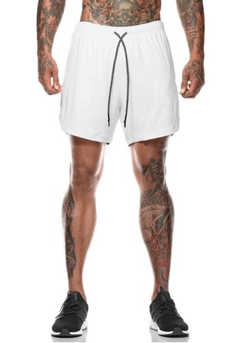 Twenty Eight Shoes white VANSA  Casual Double Layer Sports Shorts VCM-St063 B5456AA20FD8F5GS_1