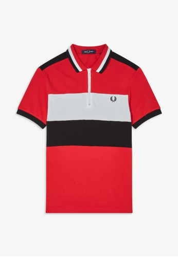 Fred Perry red M8665 - Chest Panel Polo Shirt - (Winter Red) F6FA0AA7A760D0GS_1