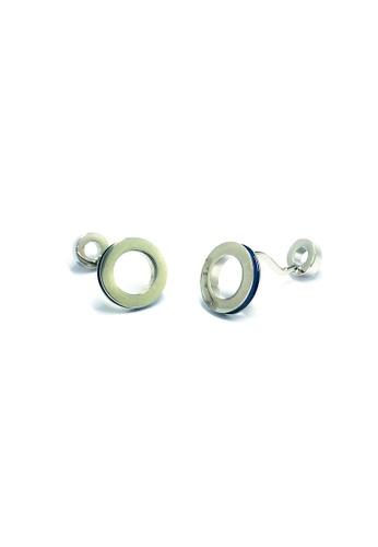 Splice Cufflinks blue and silver Blue Hoop Cufflinks  SP744AC75EEISG_1