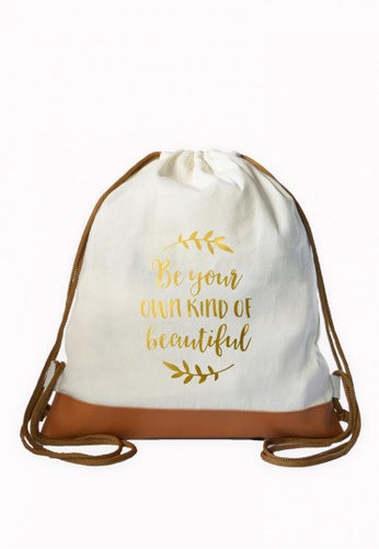 Myriad Print Concepts white Graphic Drawstring Bag CBBD6AC34986E6GS_1