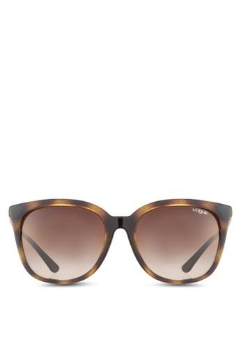 Iesprit 台中n Vogue 豹紋方框太陽眼鏡, 飾品配件, 飾品配件