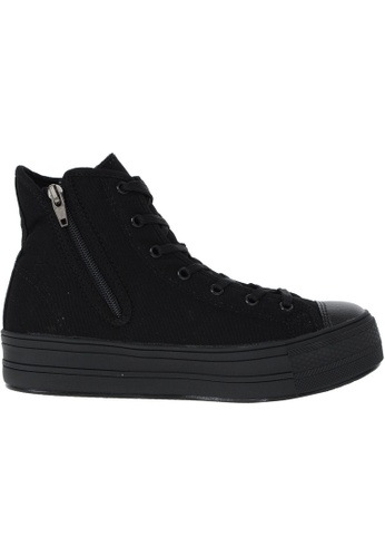 Maxstar black Maxstar Women's C30 Hidden Heel Platform Canvas High Top Sneakers US Women Size MA164SH89PUSSG_1