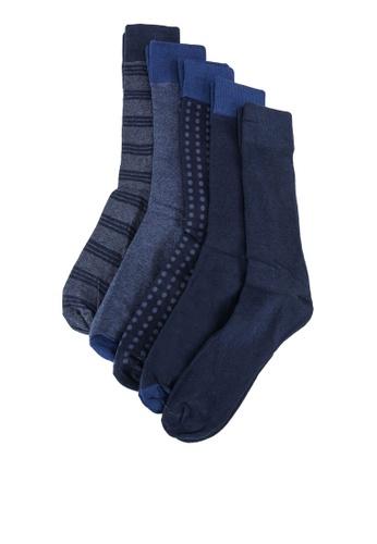 OVS blue 5-Pair Crew Socks 5E869AAA799009GS_1