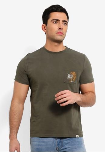 OVS green Printed Mis Dyed T Shirt D5C9DAAC0DE1A8GS_1