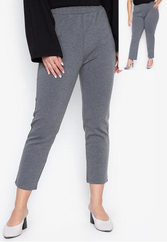 Wear Kris grey Kamille Straight Cut Regular Fit Pants BDD5FAAB9E80C7GS_1