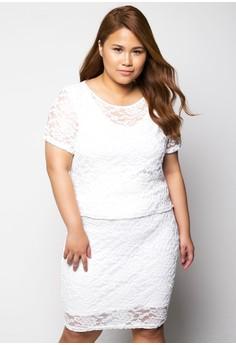 Plus Size Dress Short Sleeves