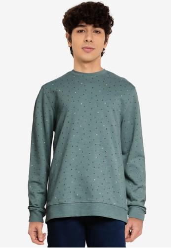 Only & Sons green Malik Crew Neck Printed Sweatshirt FE3C0AA931B8B8GS_1