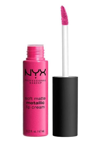 NYX Professional Makeup pink NYX Professional MakeupSoft Matte Metallic Lip Cream - PARIS D6F66BE624EC81GS_1