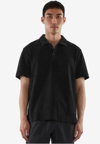 COS blue Terry Polo Shirt 451E6AA4177173GS_1
