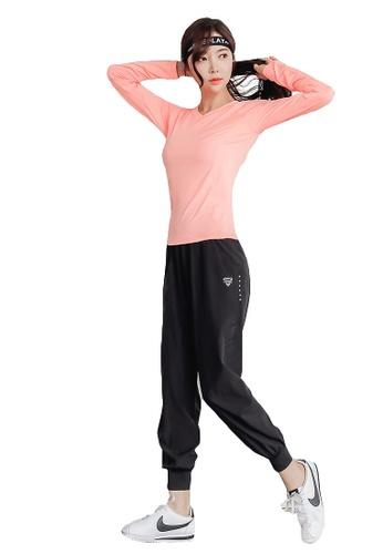 YG Fitness multi (3PCS) Quick-Drying Running Fitness Yoga Dance Suit (Tops+Bra+Bottoms) 450F1US20E2523GS_1