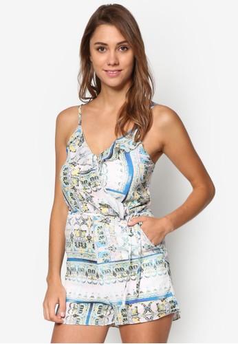 Skyla 民族風印花細肩帶連esprit手錶專櫃身褲, 服飾, 服飾