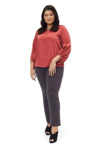 MS. READ grey MS. READ Essential Straight Cut Pants (Grey) C39D6AAFE7D9E4GS_1