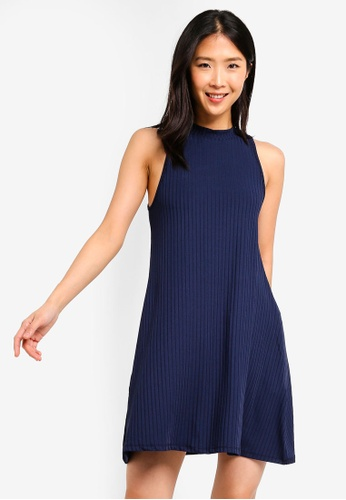 ZALORA BASICS navy Basic Sleeveless Dress 8E73AAA49E0B5BGS_1