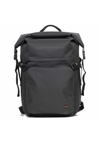 "knomo black Hamilton 14"" Roll Top Backpack (Black) 0C9A3AC35698E3GS_1"