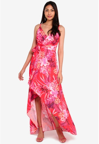 c57d26c0c0 Red Tiger Lily Ruffle Maxi Dress