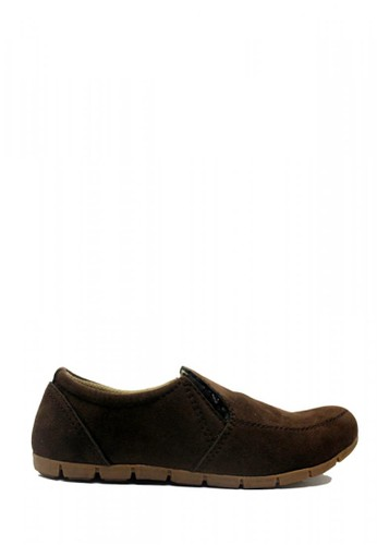 D-Island brown D-Island Shoes Oxford Slip On Flat Suede Brown 166FBSH02F954DGS_1