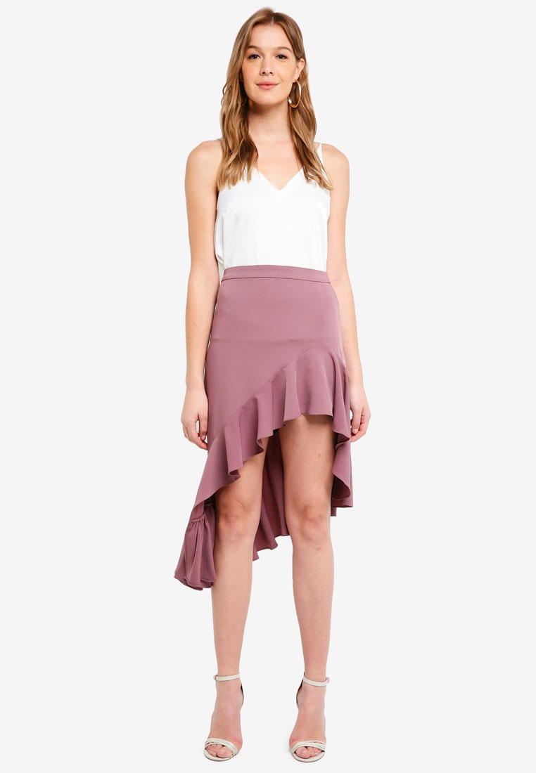 Taupe Skirt Preen Proper Asymmetric Ruffle amp; Mini wxAnTHvq67