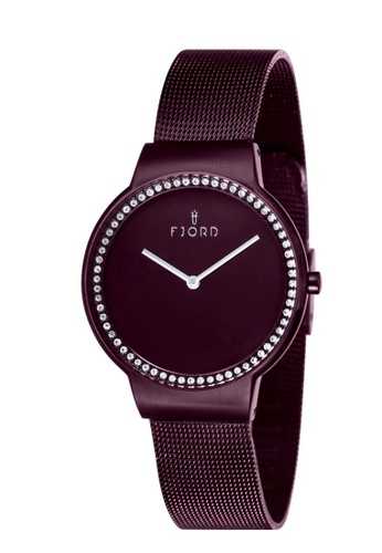 Fjord brown Fjord Women's Mesh Band Watch - FJ-6003-55 2A4FAAC4C24CD0GS_1
