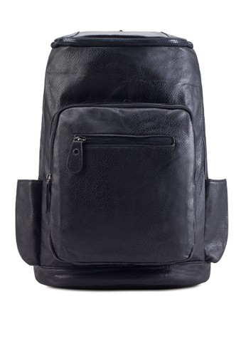 Flat Top Fsalon esprit 香港aux Leather Backpack, 包, 包