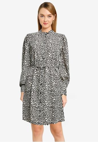 JACQUELINE DE YONG black Milo Frill Shirt Dress 9D16BAAD0FB7B1GS_1