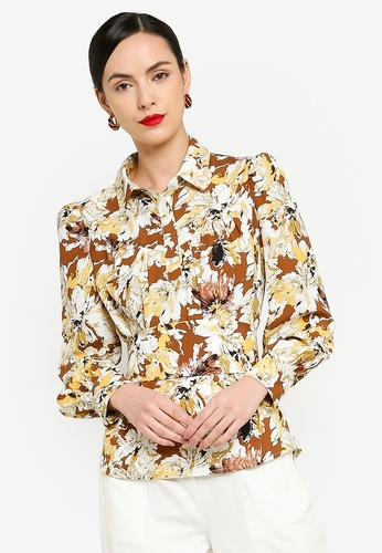 Zalia 褐色 Romantic Blouse E9C90AAD6CFB28GS_1