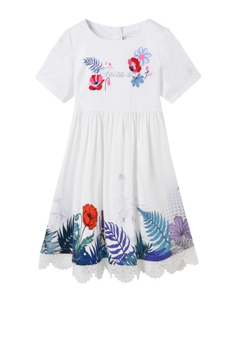 FILA white FILA KIDS Rhinestone Toscana Logo Theme Printed Cotton Dress 8-16yrs 3914BKAE34FEF2GS_1